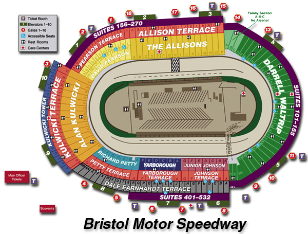 Bristol Dragway Seating Chart Car Interior Design