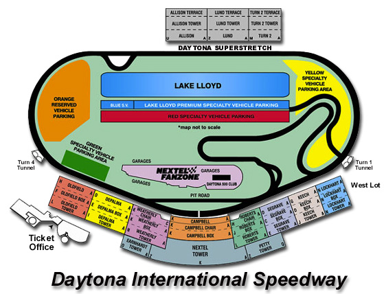 Racing adventures seating charts daytona international speedway
